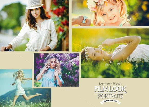 Пресет FILM LOOK Portraits Lightroom Presets для lightroom
