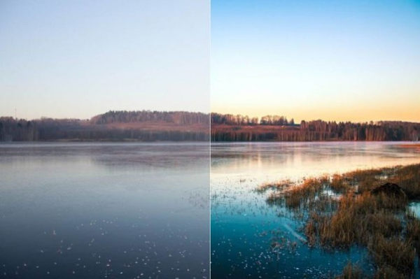Пресет Река для lightroom